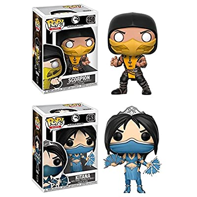 Funko POP! Mortal Kombat: Scorpion + Kitana – Stylized Video Game Vinyl Figure Set NEW