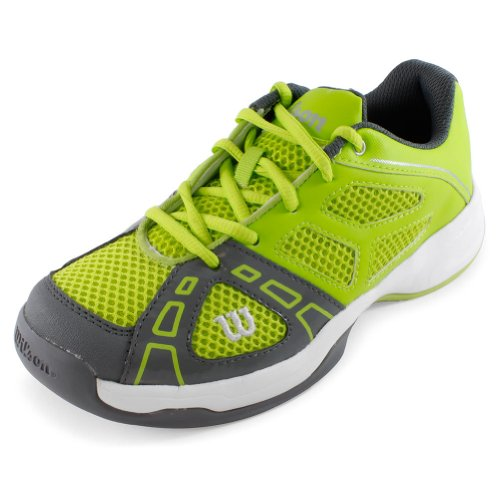Juniors` Rush Pro 2 Tennis Shoes Green and Gray