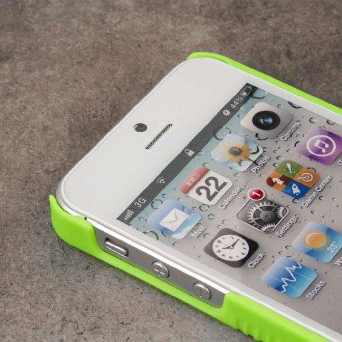 MPERO Collection 3 in 1 Tough Vert Fluo Béquille Case Étui Coque for Apple iPhone 5 / 5S