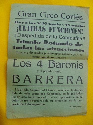 Cartel - Small Poster : GRAN CIRCO CORTÉS - Sagunto: Amazon ...
