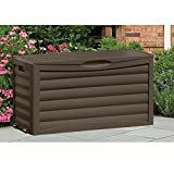 Patio Storage Cabinet Portable with Wheels & Handles Brown Outdoor Storage Container for Gardening Tools Patio Cushions Home Deck Balcony Garden Backyard Weather Resistant & eBook by BADA shop