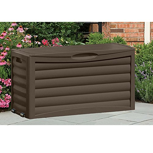 Patio Storage Cabinet Portable with Wheels & Handles Brown Outdoor Storage Container for Gardening Tools Patio Cushions Home Deck Balcony Garden Backyard Weather Resistant & eBook by BADA shop by BS