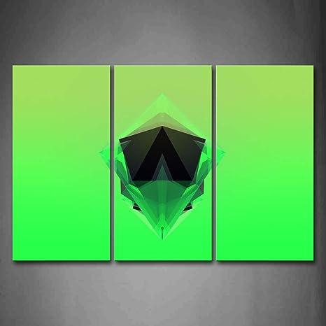 Sfondo Verde Sfaccettature Nero Verde A Forma Di Wall Art Pittura L