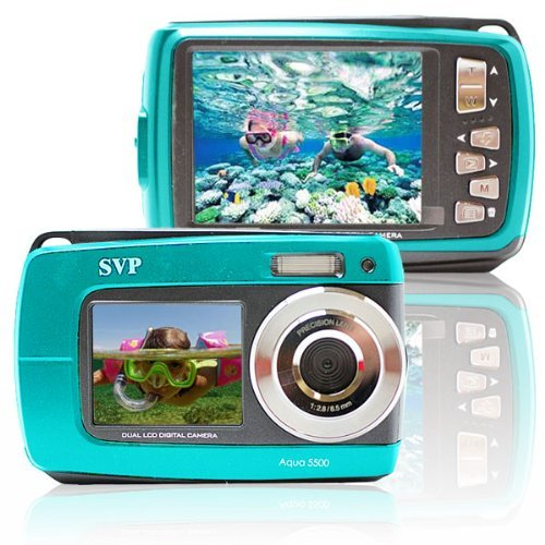 SVP Aqua 5500 (Blue) 18 MP Dual Screen Waterproof Digital Camera by SVP (Image #2)