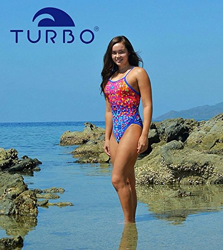 Turbo - Bañador Mujer PIXELS REVOLUTION Tira estrecha doble capa: Amazon.es: Deportes y aire libre