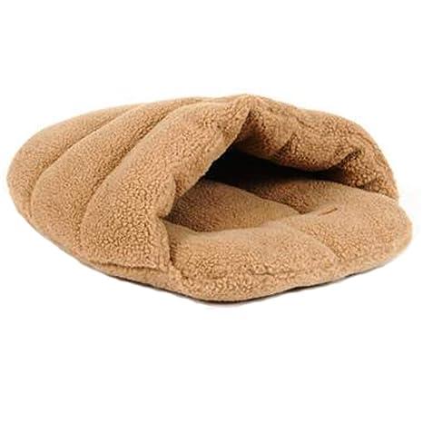 Glield Suave y Transpirable Calentar Cama para Perros y Gato PTW04 (marrón, M (