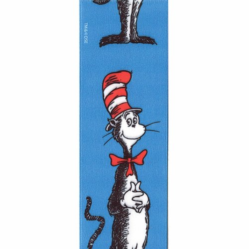 Offray Dr. Seuss Craft Ribbon, 1 1/2-Inch x 9-Feet, Cat in The -