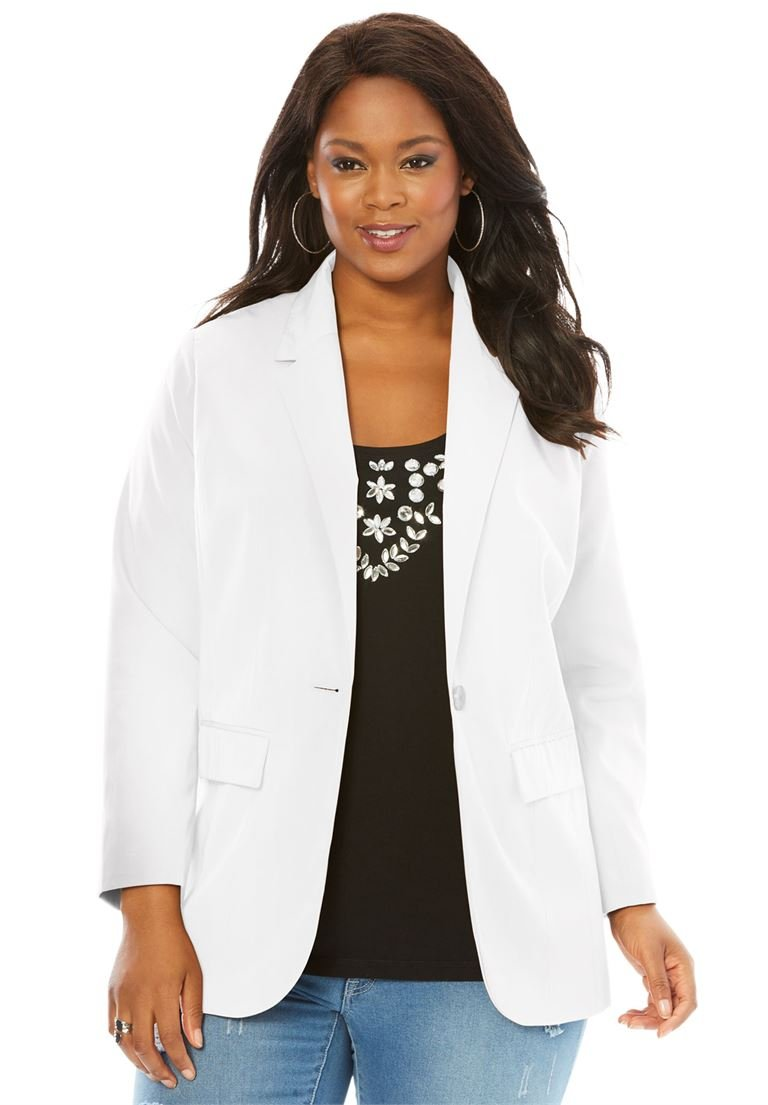 Roamans Women's Plus Size Boyfriend Blazer