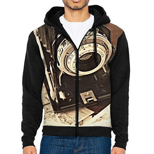 Penn Vintage Hat (PENN-TNT Vintage Cameras and Photos Front Print Zipper Hoodies Pockets Hoodie Hooded Sweatshirt Jacket For Mens)