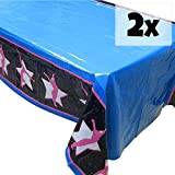Blue Orchards Gymnastics Tablecovers (2), Gymnastics Party Supplies, Gymnast Competition, Decorations