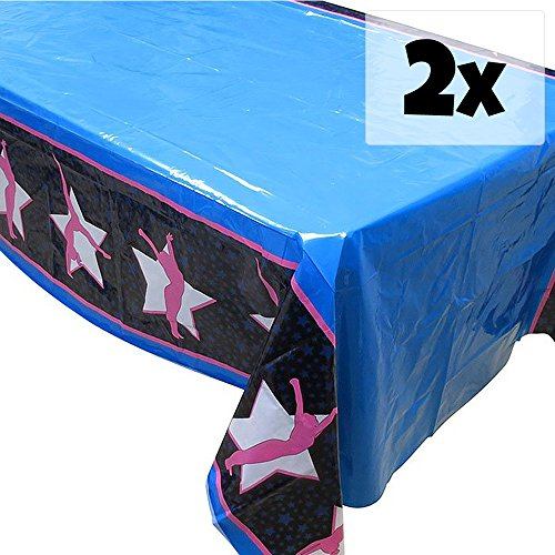 Blue Orchards Gymnastics Tablecovers (2), Gymnastics Party Supplies, Gymnast Competition, Decorations by Blue Orchards