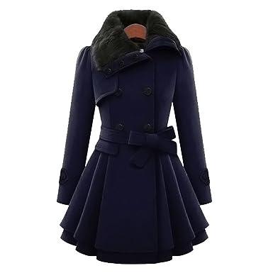 Mantel damen Kolylong® Hot Sale! Frauen Elegant Lange Wollmantel Herbst  Winter Dicker Mantel Warm 1d76ccfdb8