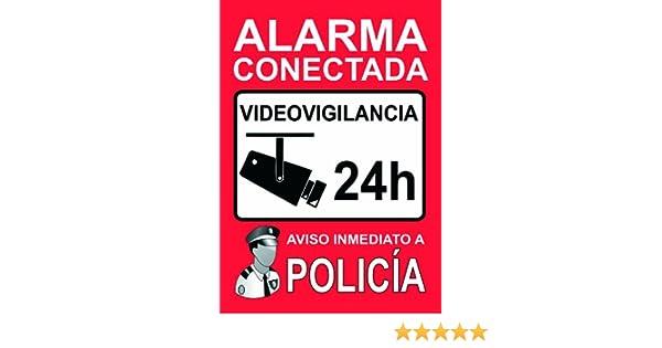 2 x Pegatinas Disuasorias Alarma Conectada