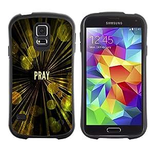 Jesus Designs Premium Hybrid Back Case Cover Samsung Galaxy S5 V SM-G900 - PRAY -