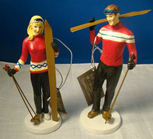"Skier Couple 5"" Figures – Set of 2 by Midwest Cannon Falls - Ski Couple"