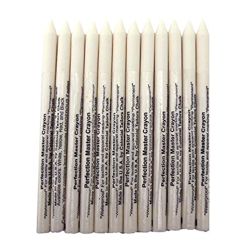 (White Perfection Master Crayon (PMC) Wax Tailor's Crayons - 12/Pk.)