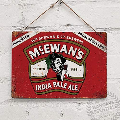 Scottish Beer (McEwans Vintage Scottish Beer Tin Sign Metal Sign TIN Sign 7.8X11.8 INCH)