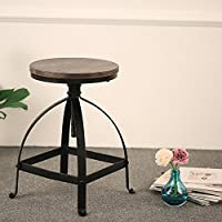 Style Industriel Chaise Haute Reglable Metal De Chargement Des Images En Cours