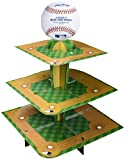 Amscan Novelty Treat Stand Childrens Party Table Centerpieces, Green/Beige