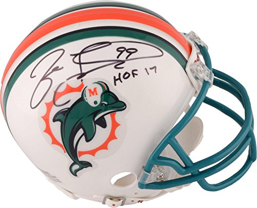 Jason Taylor Miami Dolphins Autographed Riddell Throwback Mini Helmet withHOF 17 Inscription Fanatics Authentic Certified