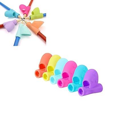 3 piezas Grip Pen Corrector Niños del lápiz lápiz de escribir la ayuda de la herramienta de agarre postura de corrección (color al azar): Oficina y papelería