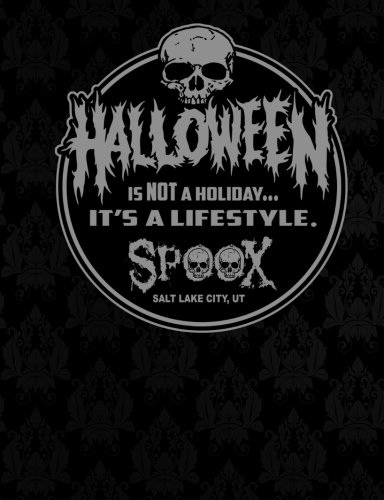 Halloween Is Not A Holiday It's A Lifestyle Notebook: Wide Ruled Composition Notebook 100 sheets / 200 pages, 9-3/4