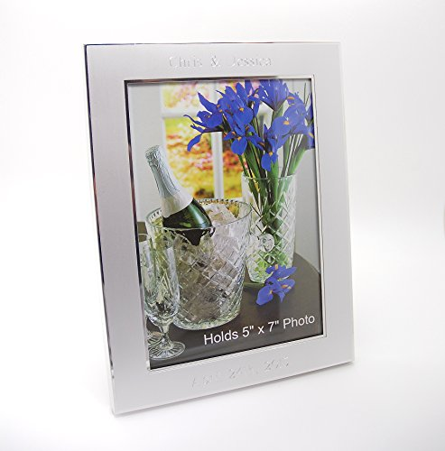 Newfavors Personalized 5x7 Photo Frame with - Free Custom Text - Frame Engraved