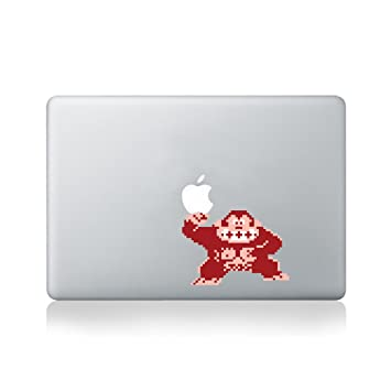 8 bit donkey kong vinyl sticker for macbook 13 inch macbook and 15