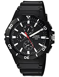 Casio MRW400H-1AV Men's Black Resin Band Multifunction Analog 100M Sports Watch