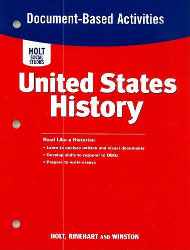 United States History: Document-Based Question Activities