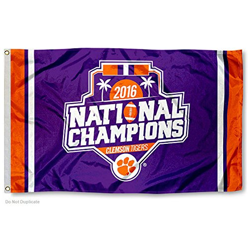 Clemson Tigers Football National Champions Flag