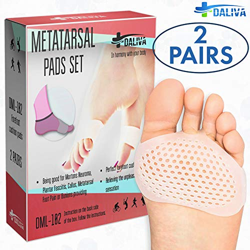 Ball of Foot Cushions (4PCS) - Metatarsal Pads Forefoot Pad - Metatarsal Cushion Mortons Neuroma - Metatarsal Foot Pads - Gel Foot Cushion - Mortons Neuroma Callus Metatarsal - Soft Gel Inserts - Metatarsal Foot Pain