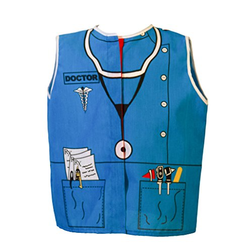 Dexter Educational Toddler Doctor Dress-up Role Play Costume (Ages 2-4 yrs)