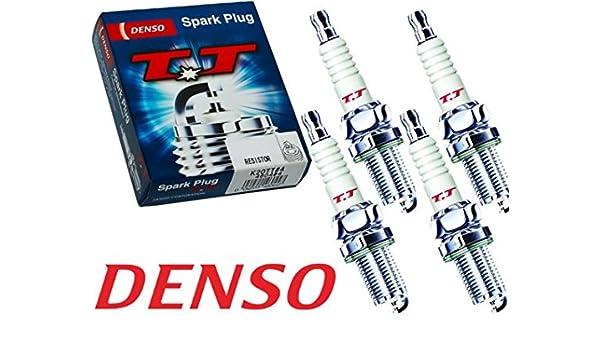 DENSO T03 TT Twin Tip K16TT 4603 Bujías de Encendido, 4 piezas: Amazon.es: Coche y moto