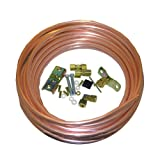 LASCO 17-0953 Copper Tubing Ice Maker Installation Kit with 1/4-Inch x 20-Feet Copper Tubing 1/4-Inch Compression Self Tapping Saddle Valve