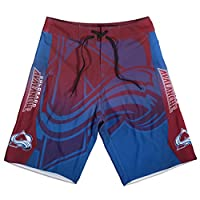 KLEW NHL Colorado Avalanche Gradient Board Shorts, Small, Blue