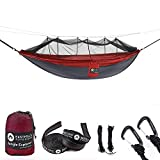 """Easthills Outdoors 118"""" x 79"""" Portable Double Camping Hammock with Removable Mosquito Bug Net"""