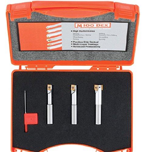 Micro 100 60-3003 Indexable Coolant-Thru Milling Tool, 3-piece Set, 1/2 Tool Shank Diameter by Micro 100 B00T4GMETQ