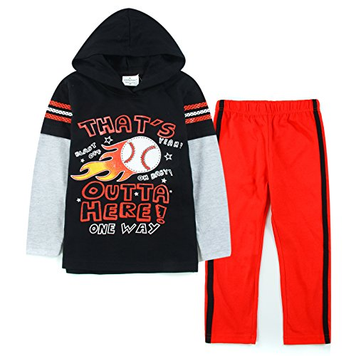 Neighbor Girl Children's Baby Football Fire sweatshirts Red Pants 2pcs Set (1.5-6 years) (Hollween Costumes Ideas)