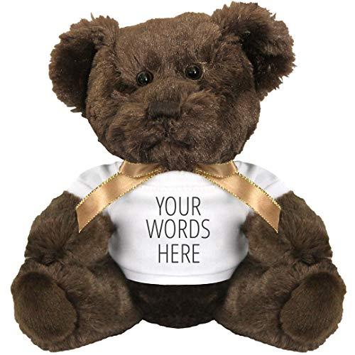 Custom Text Cuddly Gift: 7 Inch Teddy Bear Stuffed - Personalized Teddy Bear Dream