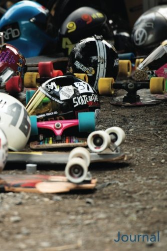Price comparison product image Journal: Skateboard Helmets: Longboard Racing Helmets Blank Journal
