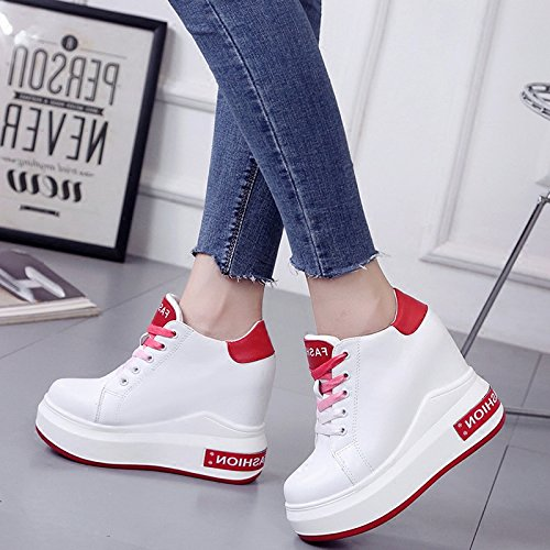 Wedges Thick Thirty Base Leisure Color Match High Cake Shoes nine Increased Shoes All Winter Super KPHY Autumn And Heels 12Cm xU0wqaaY