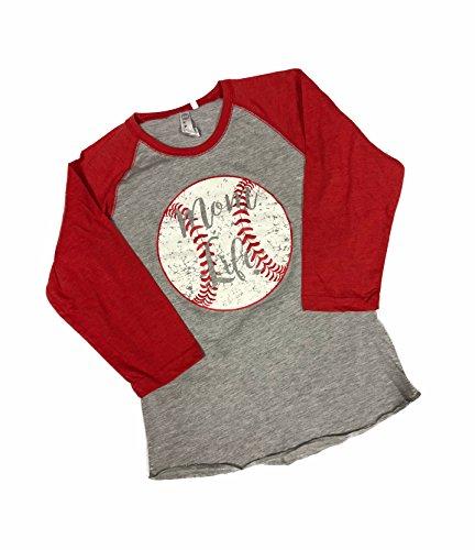 Devious Apparel Mom Life 3530 Fine Jersey T-Shirt Baseball Softball Team Mom Tee Printed Women