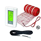 25 Sqft Mat, 120 V Electric Tile Radiant Floor Heating Mat with Programmable Thermostat