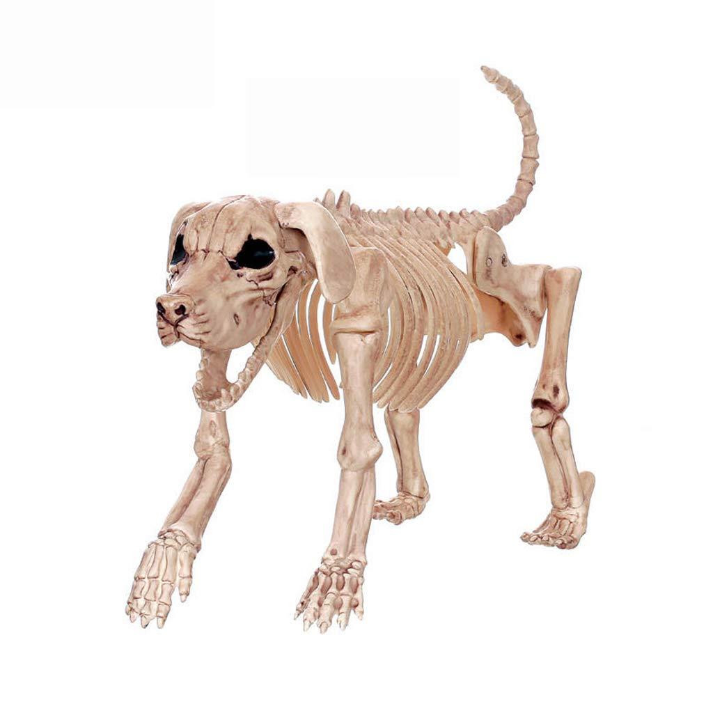 C&S Retro Hund Skelett Spukhaus Tier Skelett Horror Bar Film Requisiten Halloween Ornament
