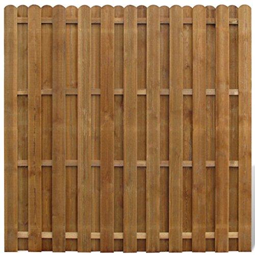 vidaXL Sichtschutzzaun Element Gartenzaun aus Holz vertikal