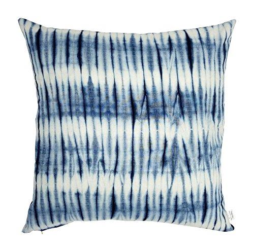 Upcountry Textiles, Indigo Collection, Shibori Hand-Dyed, Tie & Dye Decorative Throw Pillow Cover, 20