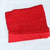Red Crochet Tutu Top Lined 12 Inches X 10 Inches - Elastic Crochet Top - Crochet Tutu Top
