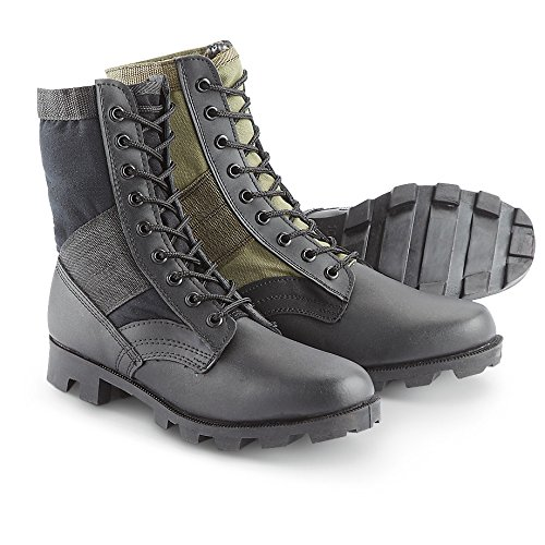 Stansport Jungle Boots, Black, 8W (Womens Military Boots)