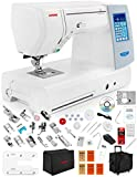Janome Memory Craft Horizon 8200 QCP Special Edition Computerized Sewing Machine w/Extension Table + Trolley + Semi-Hard Cover + Cloth Guide + Much More!